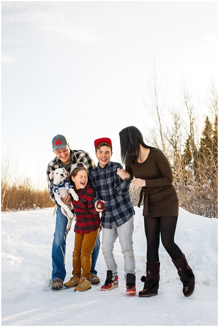 Happy Valley Goose Bay Family Wedding Photographer Ackland Photography Outdoor Winter Snow Portraits 2